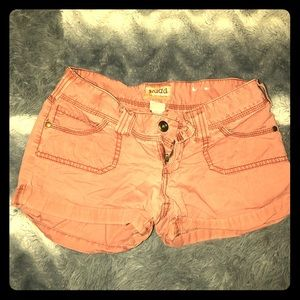 (3for$20)Dusty rose size 3 mudd shorts